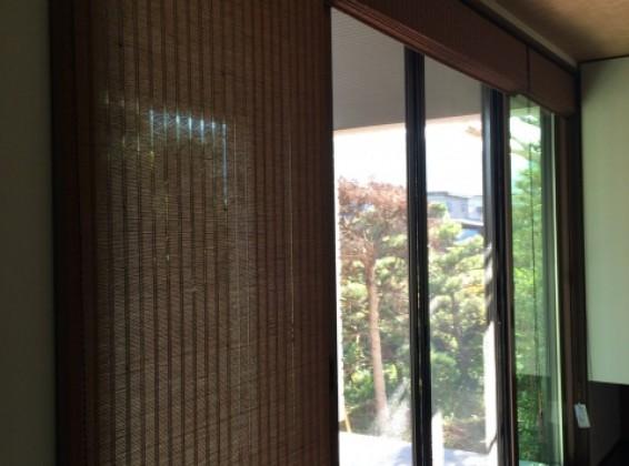 竹の風合いが魅力的な和の空間