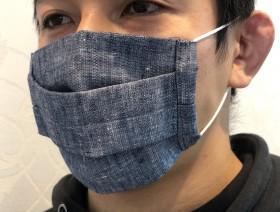 天然リネン素材を使った布マスク販売中